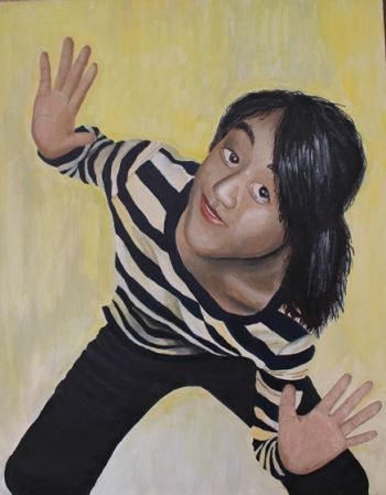 Title: The Mime, Subject: Self Portrait, Artist: Jacqueline Soon