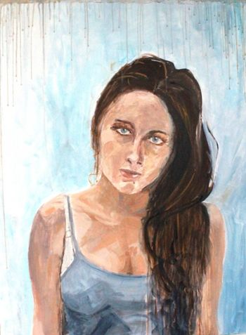 Title: Cerae Annis In Domo, Subject: Self Portrait, Artist: Kathleen McCormack