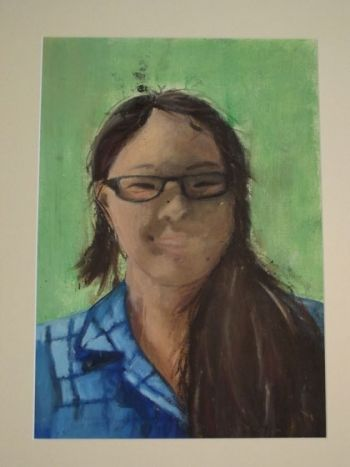 Title: Kezia Purnomo, Subject: Self Portrait, Artist: Kezia Purnomo, Year 10