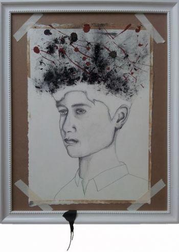 Title: Exposure, Subject: Self Portrait, Artist: William MacFarlane, Year 10