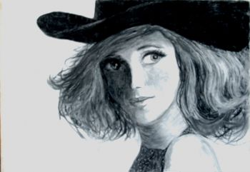 Title: A Portrait of Delta Goodrem, Subject: Delta Goodrem, Artist: Breanna Hicks, Year 11