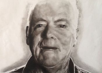 Title: Grandad, Subject: Jim Ryan, Artist: Elena Ryan, Year 11