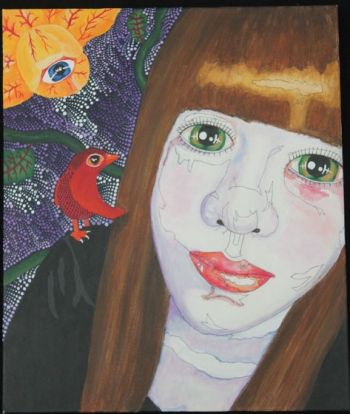 Title: Chantelle - Self Portrait, Subject: Self Portrait, Artist: Chantelle Crupi, Year 12