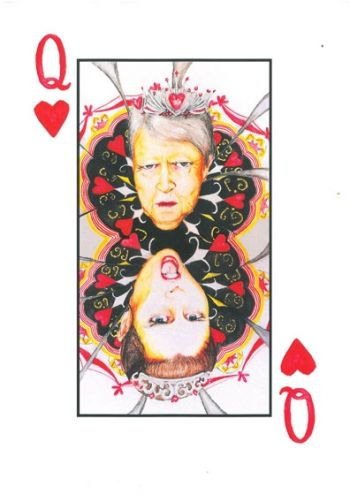 Title: Game of Hearts, Subject: Sister Margaret Lipsett, Artist: Gemma Walsh, Year 12
