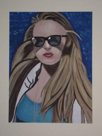 Title: Fun in the Sun, Subject: Self Portrait, Artist: Bonita van der Walt, Year 10