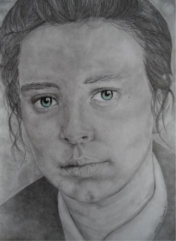 Title: These Eyes Dont Lie Subject: Self Portrait, Artist: Melissa Clements, Year 9