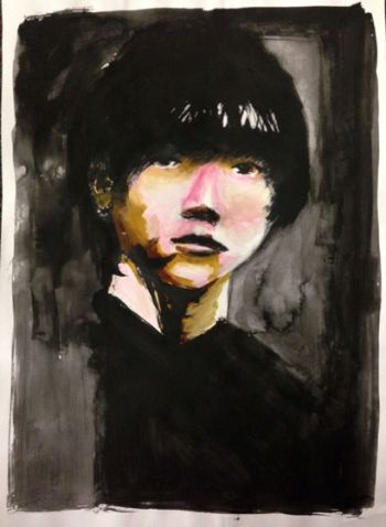 Artist: Youngwoo Song, Year: 11, Title: Self Portrait, Subject: Self Portrait