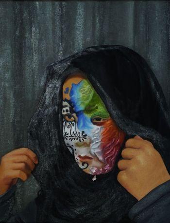 Artist: Huei-Ming Ng, Year: 11, Title: Unveil, Subject: Huei-Qing Ng
