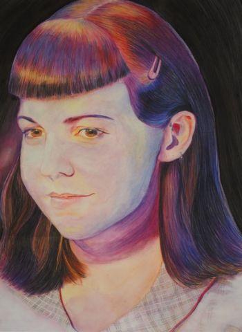 Artist: Kelly Hart, Year: 11, Title: Self Portrait, Subject: Self Portrait