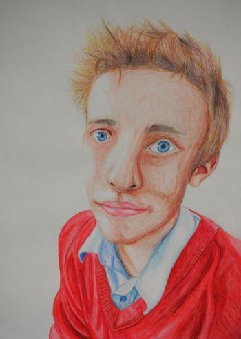 Artist: Samuel Mead, Year: 11, Title: Self Portrait, Subject: Self Portrait
