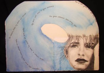 Artist: Olivia Allen, Year: 9, Title: Ocean Dreams, Subject: Self Portrait
