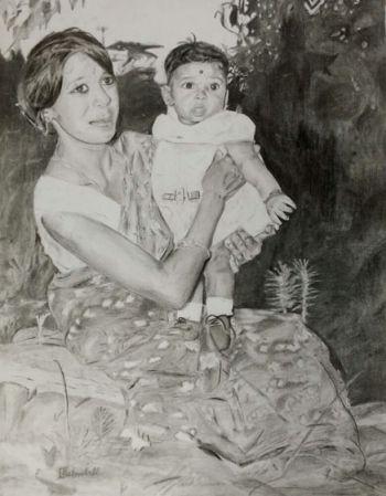 Artist: Akshay Bishnulall, Year: 9, Title: The Long Road Ahead, Subject: Mr Ashwin Bishnulall