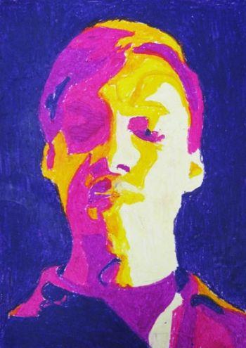 Artist: Khairo Pomare, Year: 8, Title: Self Portrait, Subject: Self Portrait