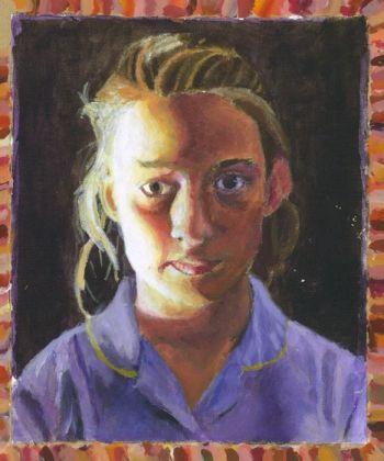 Artist: Scarlett Rawlins, Year: 9, Title: Self Portrait, Subject: Self Portrait