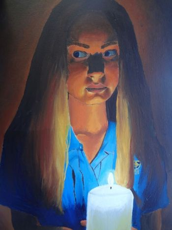 Artist: Amelia Binns, Year: 9, Title: Self Portrait, Subject: Self Portrait