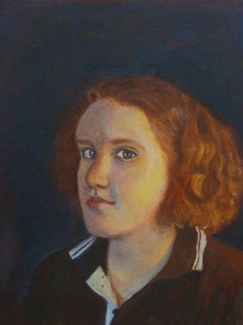 Artist: Elizabeth Scanlon, Year: 8, Title: Libby, Subject: Self Portrait