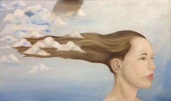 Artist: Antonia Hills, Year: 12, Title: Head In The Clouds, Subject: Tasmyn Hills
