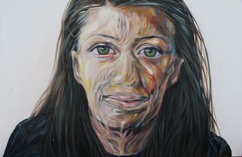 Artist: Lauren Rodriguez, Year: 11, Title: Turia Pitt, Subject: Turia Pitt