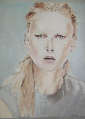 Artist: Melan Hegermann, Year: 10, Title: Defiant, Subject: Ollie Henderson