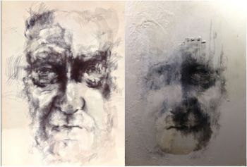 Artist: Ruth Loveridge, Year: 12, Title: My Grandad - Thomas Gerard Darwin, Subject: Thomas Gerard Darwin