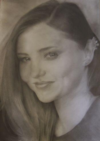 Artist: Daniel He, Year: 8, Title: Miranda Kerr, Subject: Miranda Kerr