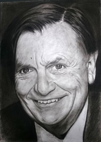Artist: Jiabin Zhang, Year: 9, Title: Dame!, Subject: Barry Humphries