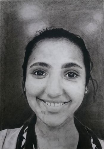Artist: Noor Iqbal, Year: 9, Title: Noor, Subject: Self Portrait