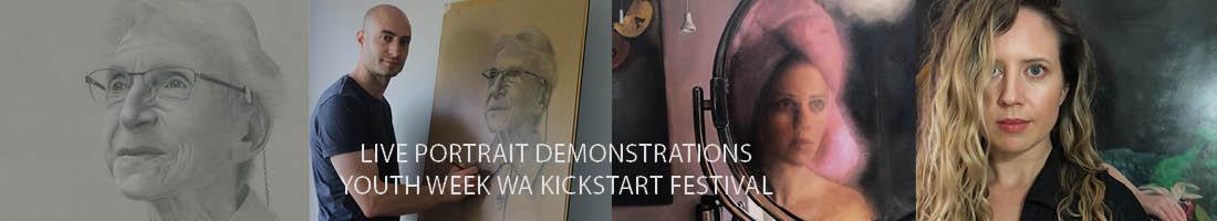 Propel Youth Arts WA | Live Portrait Demonstrations | Youth Week WA KickStART Festival Market